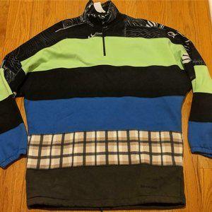 Mens Balenciaga Mixed-Media 1/2 Zip Sweater